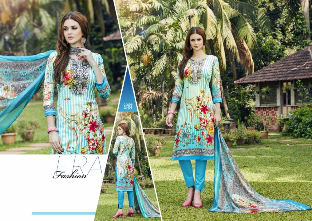 Alok Suit Pure Cambric Cotton Printed Dailywear Lawn Salwar Kameez Suit For Women