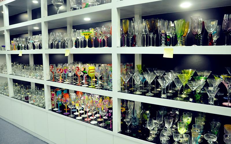 wholesale 4 pieces set glass bathroom accessories for home decoration