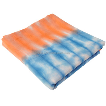 Handmade tie dyed shibori cotton quilt curtain pillow apparel dress sewing running wholesale fabric