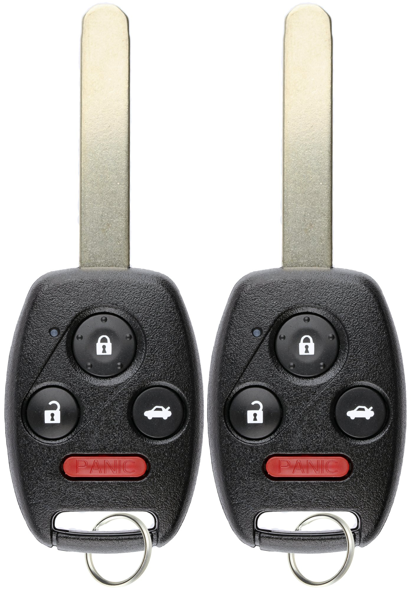 KeylessOption Keyless Entry Remote Control Uncut Car Ignition Key Fob Replacement for OUCG8D-380H-A (Pack of 2)