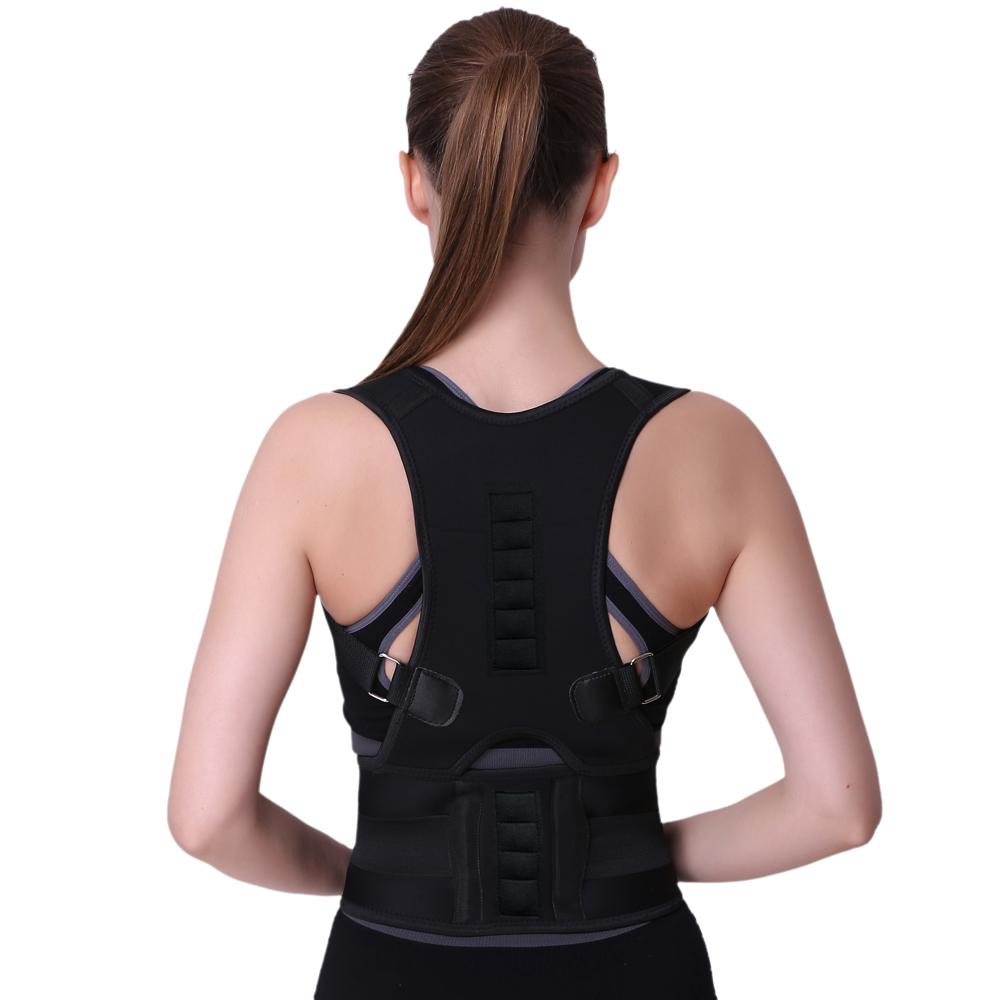 Magnetic posture support corrector body shaper back pain belt brace shoulder, Customized color