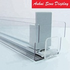 Automatic transparent plastic shelf pusher for supermarket