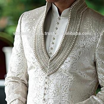 fc7261a0a6 Indian Bollywood Indo Western Mens Sherwani wedding dress Jacket Blazer  Bridal Wear