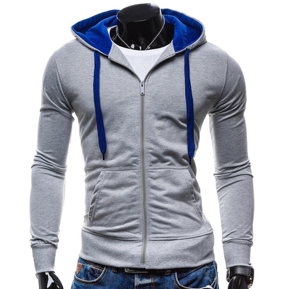Wholesale Custom Man Oversized Blank Men Blue Hoodies Buy Custom Purple Hoodies,Cheap Blank Hoodies,Plain Hoodies Product on