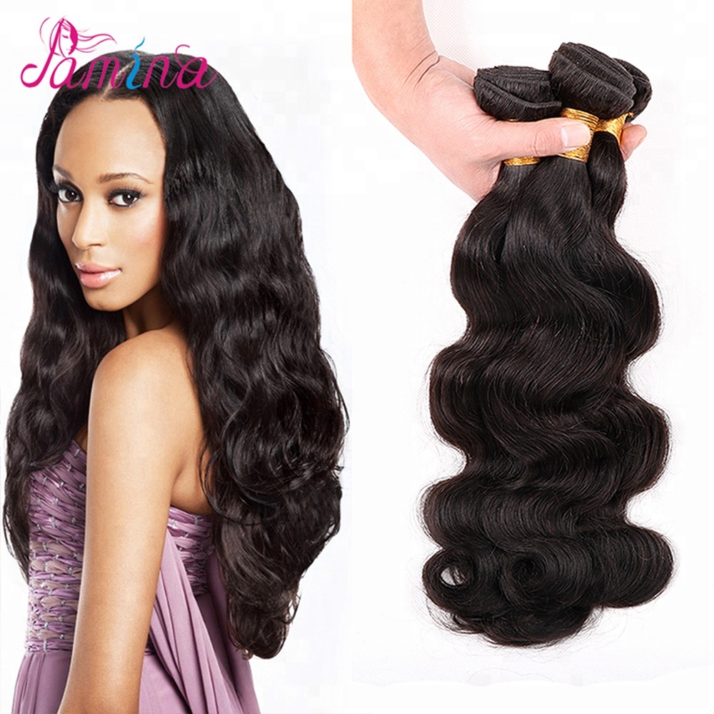 Grade 8a Unprocessed Virgin Hair Brazilian Body Wave Human Hair Bundles Factory Wholesale Hair Weave, Natural black color;can be dyed any color