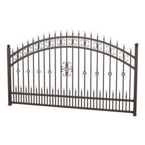 Outdoor decoration Application forged iron fence design wrought iron fence