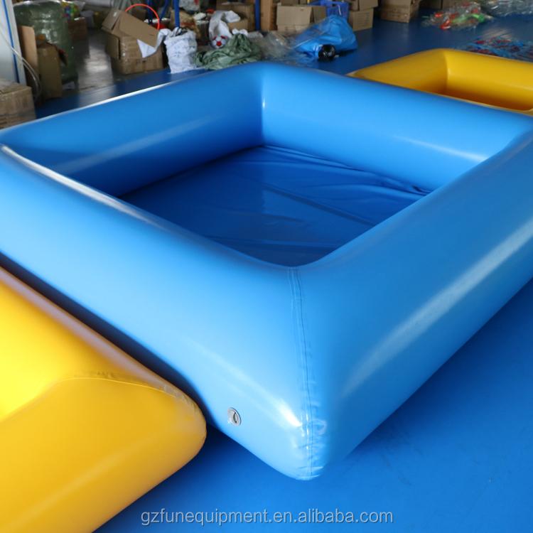 6.6 X 6.6ft Mini Màu Xanh Hình Vuông Màu Vàng Bơi Nước Inflatable Hồ Bơi Cho Trẻ Em