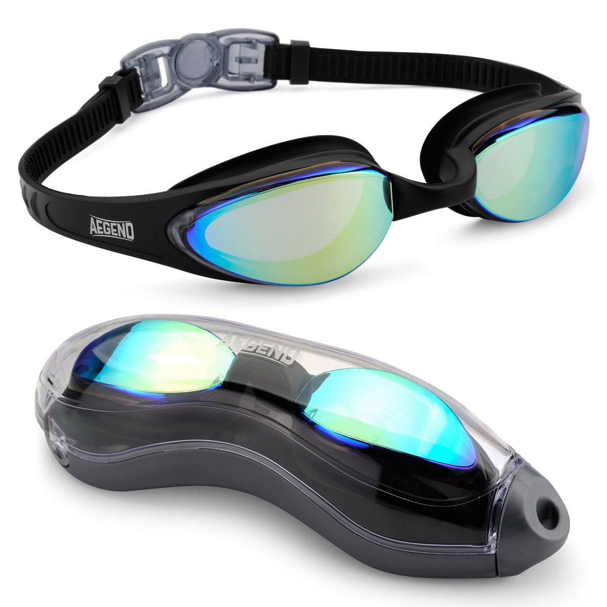 01f5eba069a0 Aegend S Swim Goggles Racing Swim Goggles Streamline Design - Soft Nose  Piece - Premium UV