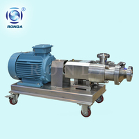 RLS sanitary high viscosity low shear twin ss screw pump for food grade date paste pump for mayonnaise