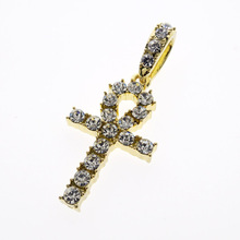Iced Out Ankh Key Cross <span class=keywords><strong>Hanger</strong></span>