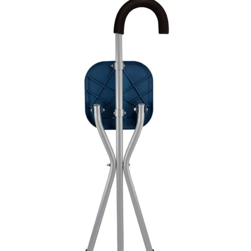MOXIN Cane seat walking stick seat canes three-legged stool chairs for the elderly the elderly walking stick stool , a , magnesium alloy tripod cane stool