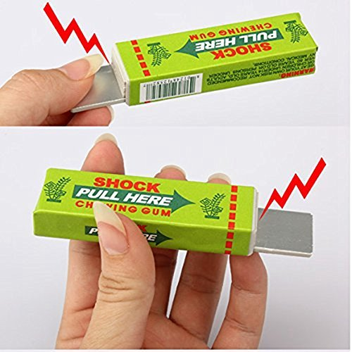 Simplefirst Shocking Gum, Funny Shock Gag Electric Shocking Pull Head Chewing gum (Random Color, 1Pcs)