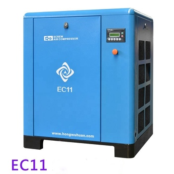 hongwuhuan new design EC11 belt drive stationary screw 11kw 15hp air compressor