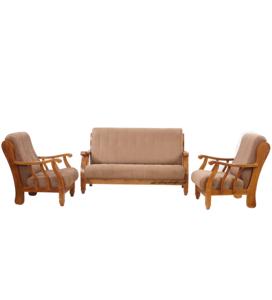 Caramel Teak Wood Sofa Set 311