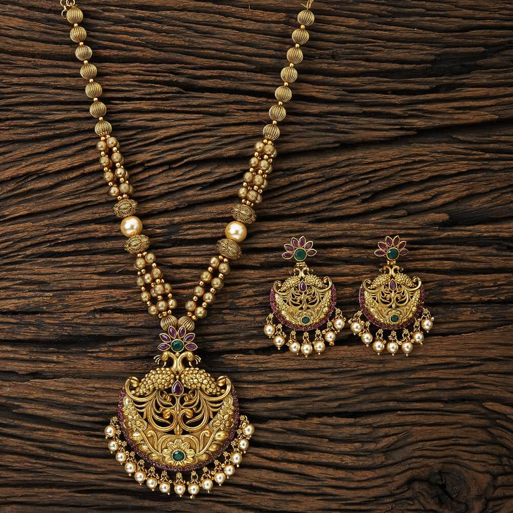 peacock pendant set with gold plated jewelry 17089 Rubygreen