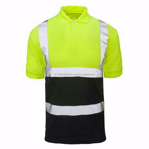 High visible safety polo shirt workwear polo shirt, hi-vis uniform