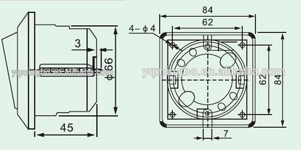 Marine Kunststoff 220 V He-2n-1/2 Kabine Druck Taster Elektrische ...