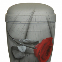 Red Rose Brass Cremation Urn For Human Ashes By Brassworld India