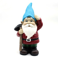 Wholesaler custom size handmade resin cute dwarf statue figurine mini garden gnome for sale
