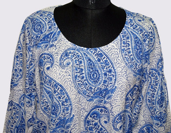 Blue Paisley Printed Cotton Women Dress Top Wear Kurti Fancy Fashionable Party Wear Wholesale