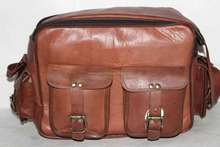 Aryan Exports Real genuine leather vintage style camera bag