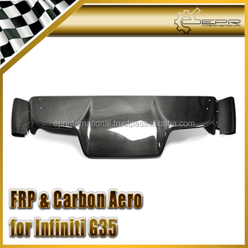 For 03-08 Z33 350z Infiniti G35 Coupe 2D JDM TS Style Rear Diffuser 6Pcs (with fitting) Carbon