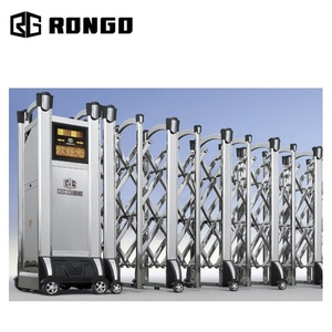 RONGO 304 stainless steel entrance retractable folding gate