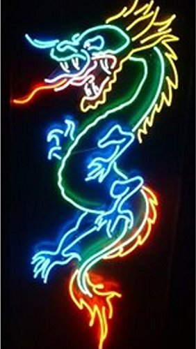 "Mirsne Dragon 30"" by 18"" Neon Signs, Glass Tube neon Open Sign, Custom Made neon Beer Sign, Unique neon Sign Art, Supplied for a Wide Range of Personal uses."