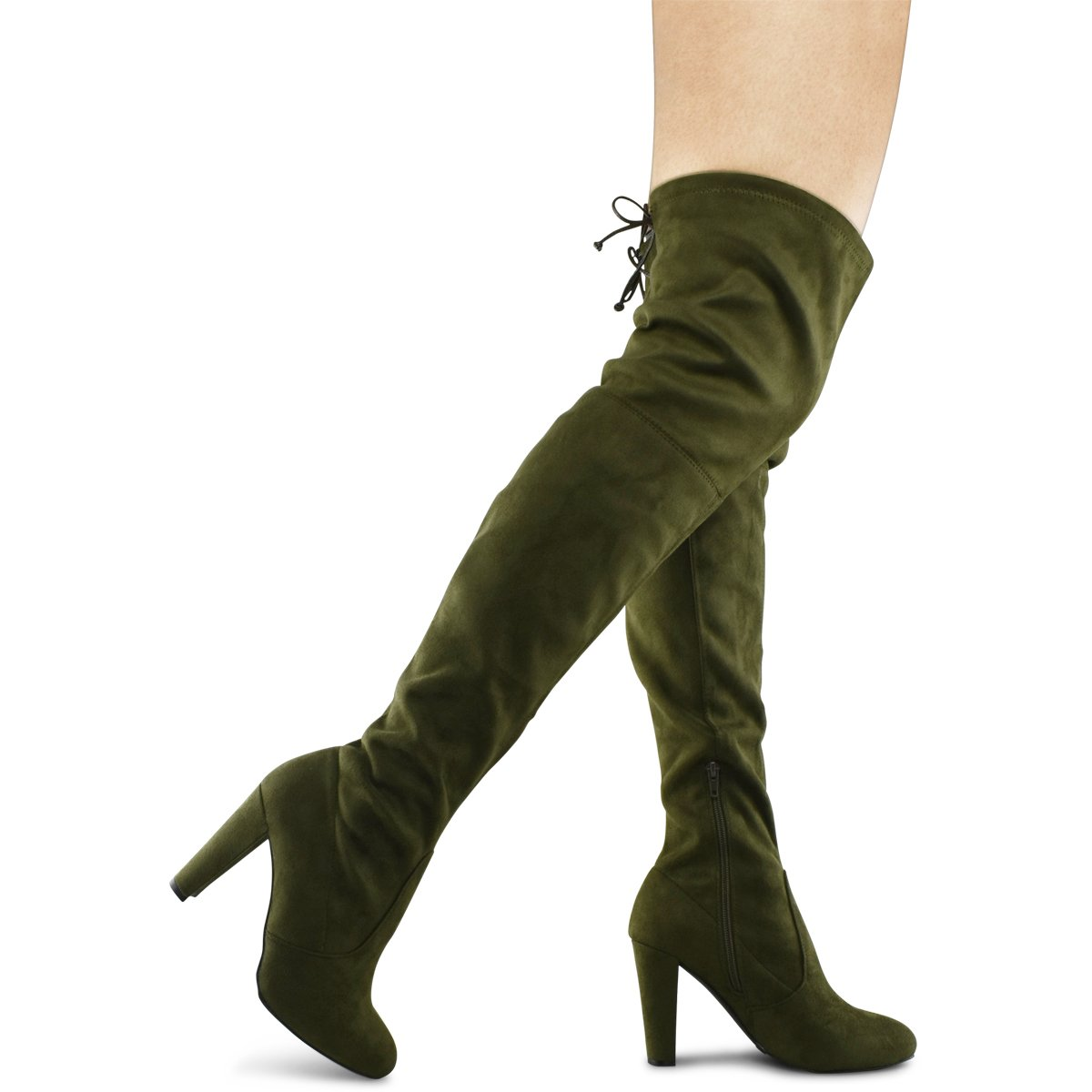 5c9b25efa565 Get Quotations · Premier Standard Women's Over The Knee Boot - Sexy Over  The Knee Pullon Boot - Trendy