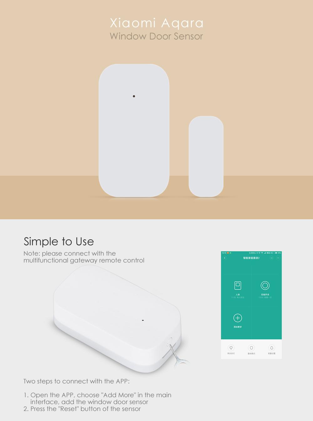 Xiaomi Aqara Zigbee Aaqra Door Sensor Alarm Magnetic Door Sensor Mccgq11lm  - Buy Door Sensor,Door Sensor Alarm,Magnetic Door Sensor Product on