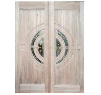 Solido Legno Merpauh Decorative Art Glass Villa Ingresso Doppia Anta