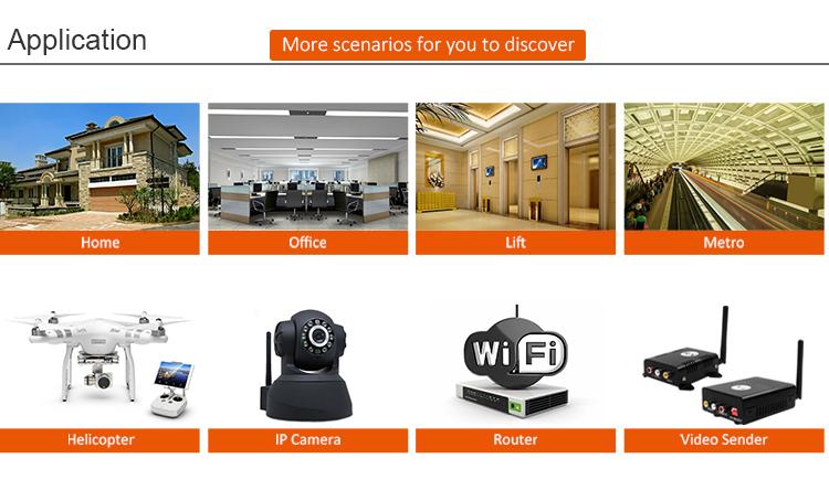 Extensor de alcance wi-fi sunhans SH58Gi2000P 33dBm 2W 5.8GHz WiFi Signal Booster para drones estender sinal sem fio Bluetooth ZigBee