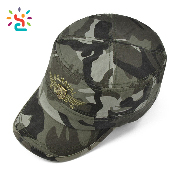Custom camo unisex Flat top officer wholesale types of hats indian army cap green  military hat military cap 4440d184f51