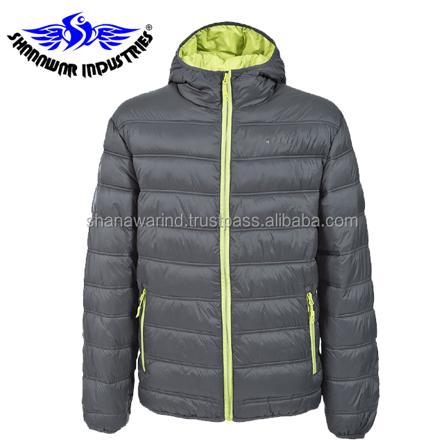 ef16389f0f Two tune bubble jacket with quality padded foam,Custom Mens Hooded Packable Down  Puffer Jacket,New Design Mens Quilted Jacket