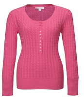 Ladies Cotton Cable Long Sleeve Sweater 2018