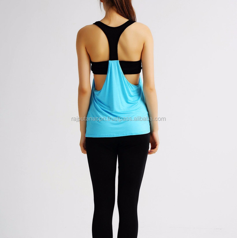 Workout Tank Top T-Shirt Print Gym Clothes Fitness Yoga Lift Womens Yoga Vest