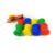 Educational learning plastic manipulative toys for kids cotton reel threading beads with string