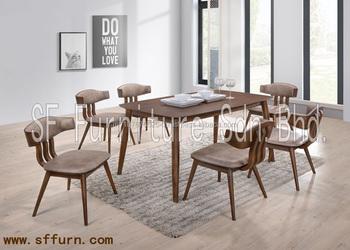 Eetkamer Massief Hout : Gestoffeerde stoel dining set eetkamer set massief houten eettafel