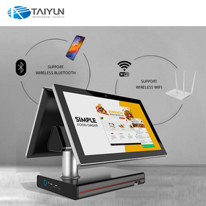 15.6 inch dual display touch screen POS system cash register restaurant ordering machine