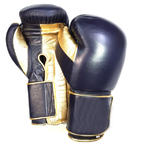 STILE MESSICANO CLASSIC FIT MUAY THAI/GUANTONI da boxe-NAVY/METALLIC GOLD