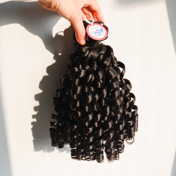 8-32 inch Double drawn grade curly virgin human hair extension bundles High quality Cheap price Good insurance policy