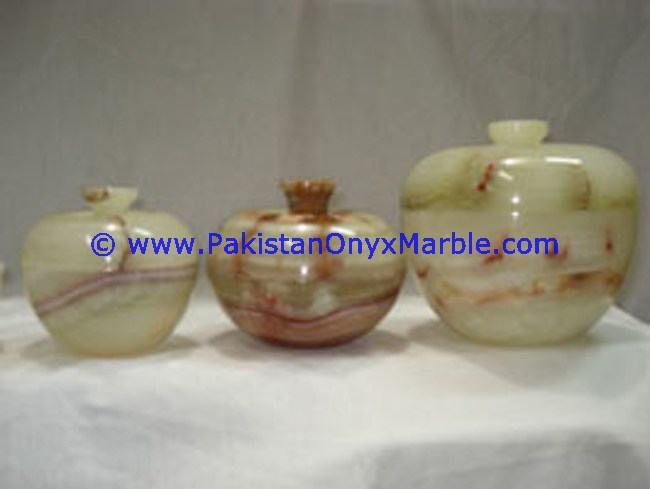 Green Onyx Natural Jars For Christmas With Gift Box