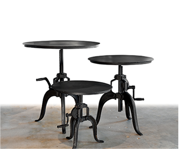 Tavolo Industriale Quadrato : Industriale rotondo manovella da tavolo in metallo industriale