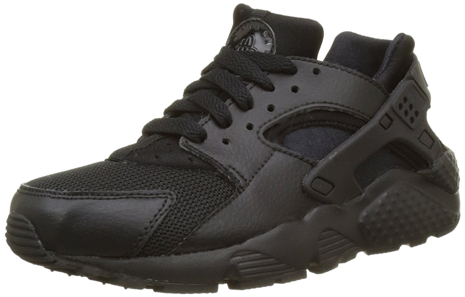 online store def7f b5cfa Get Quotations · Nike Huarache Run GS Youth Lifestyle Sneakers Black - 5