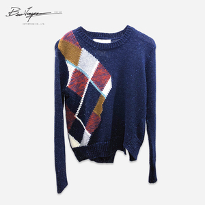 Ladies Jacquard Patchwork Computer Knitted Sweater