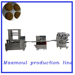 Hot sale safety easy clean  automatic fruit filled bar / date bar encrusting machine