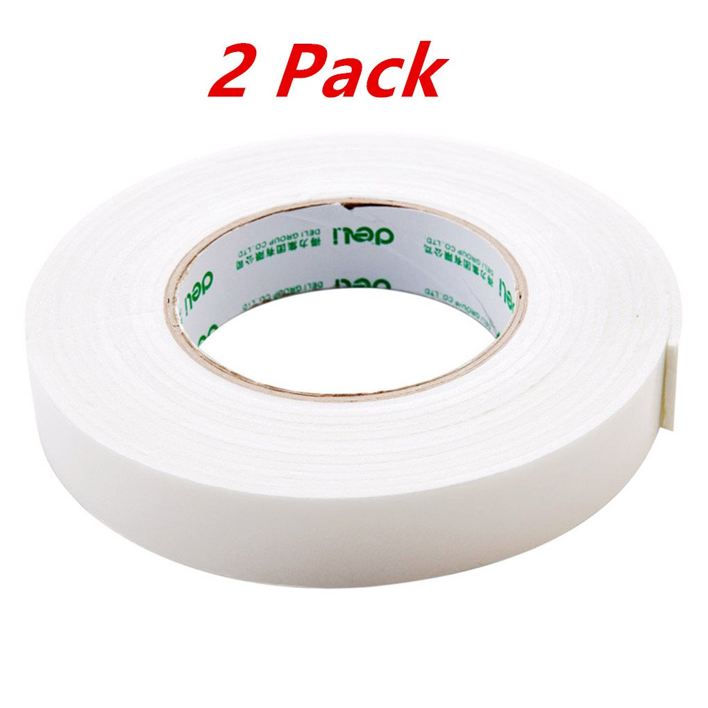 Double Sided Tape,Strong Foam Double-Sided Adhesive, Seamless Sponge Glue, Thick Foam Tape, Wall Fixed Plastic, Paper Tape,0.94 Inch X 5 Yards,Pack Of 2