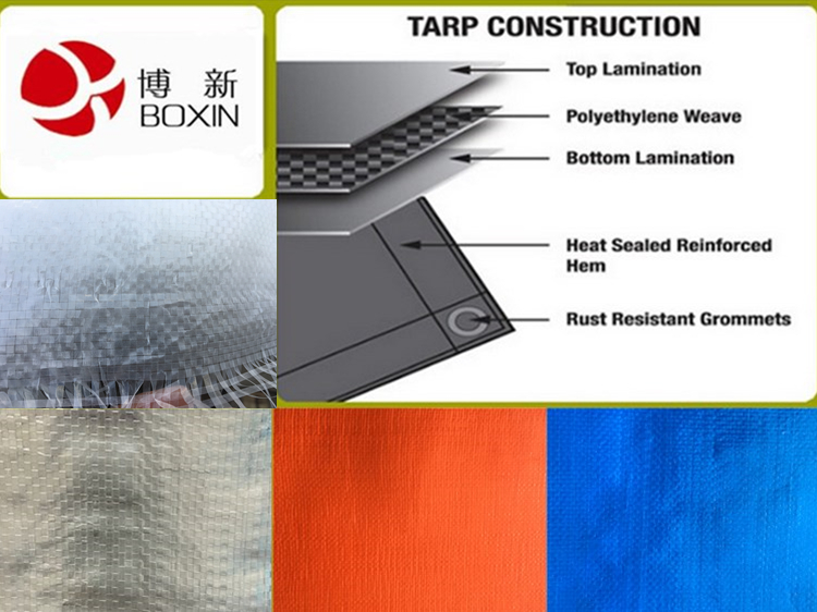 100% Virgin Material, HDPE/LDPE Material PE Tarpaulin For Awning Cover