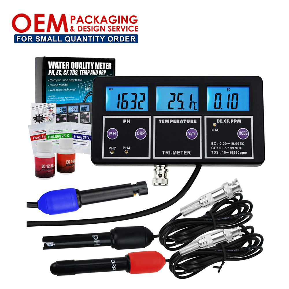 6 in 1 Multi-parameter pH/ ORP/ EC/ CF/ TDS PPM/ Temperature Combo Testing <strong>Meter</strong> Water Quality <strong>Meter</strong> (OEM Packaging Available)