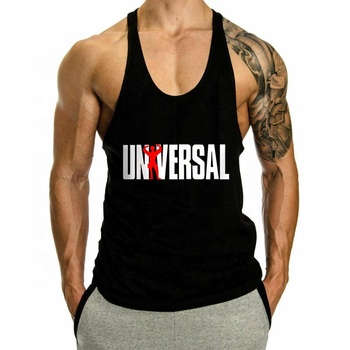 Workout Undershirts Gym Mannen Tank Top Bodybuilding Gym Spier Fitness Stringer Tee